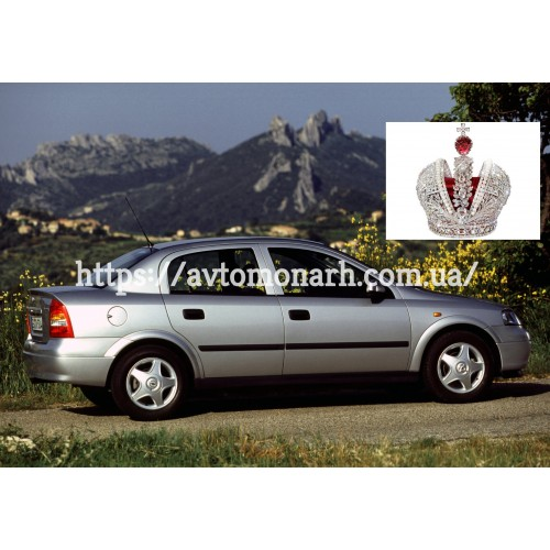 Правое боковое стекло Opel Astra G  (4325) на Opel Astra G (Седан, Комби, Хетчбек)